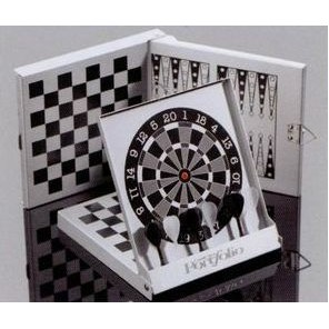 Custom Printed 3-in-1 Magnetic Game with Darts/ Checkers & Backgammon Game