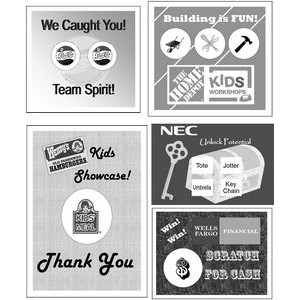 Semi Custom Scratcher Cards - Black & White (3.75