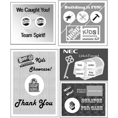 "Semi Custom Scratcher Cards - Black & White (2.00""x3.50"")"