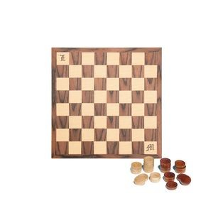 Wood Checkers Set - 12